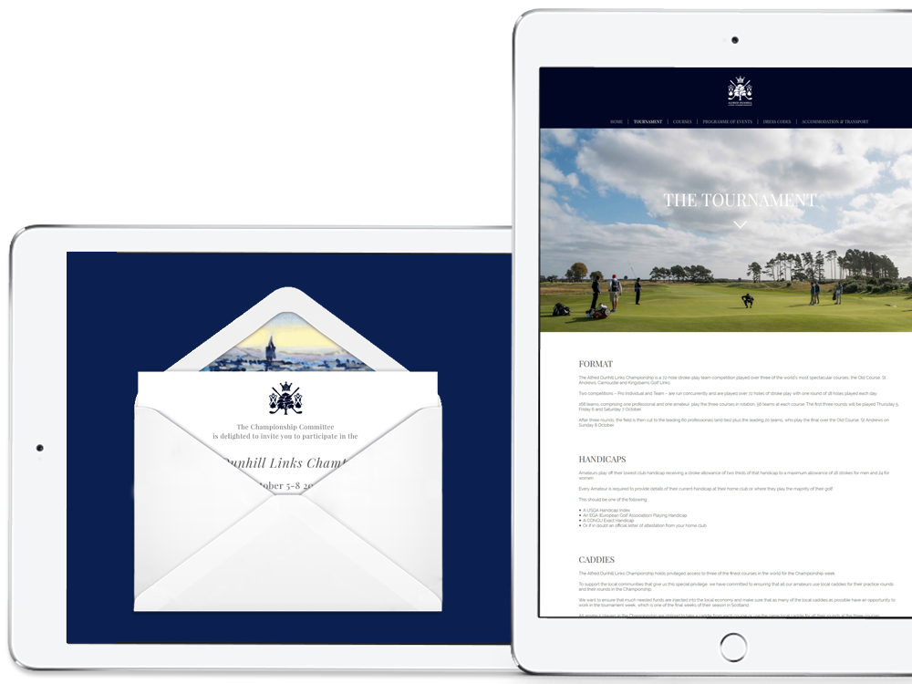 Alfred Dunhill Links invite solution